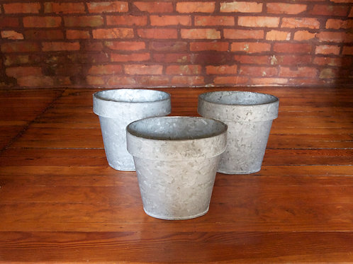 Small Galvanized Containers