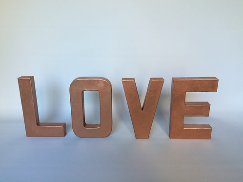 Bronze LOVE letters