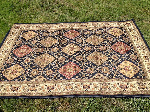 Black and Rust Oriental Rug