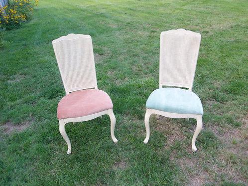 Pink & Mint Wicker Chair