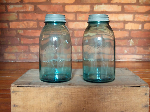 Blue Half Gallon Mason Jars