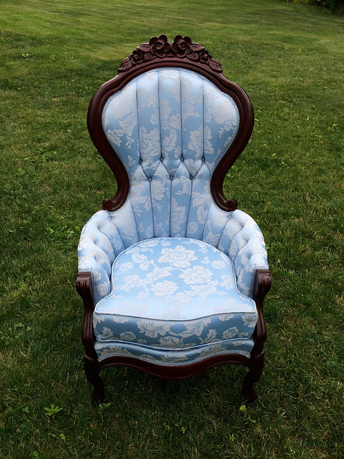 Blue Victorian Chair