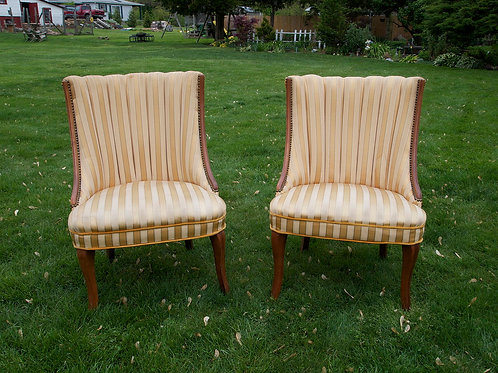 Gold Striped Chair