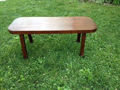 Brown wood rustic coffee table/bench