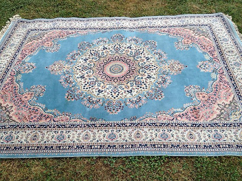 Turquoise and Pink Rug