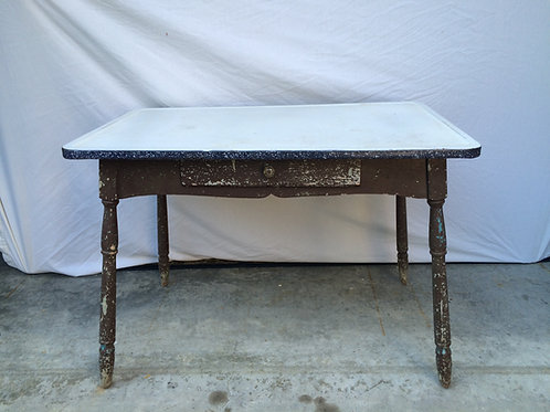 Brown and Ceramic Table