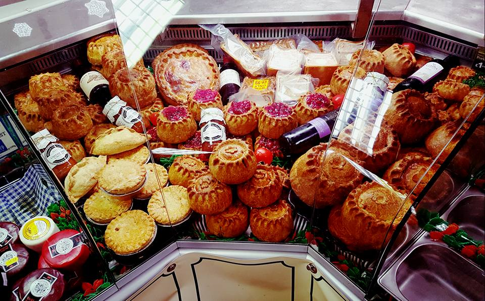 Christmas pie selection