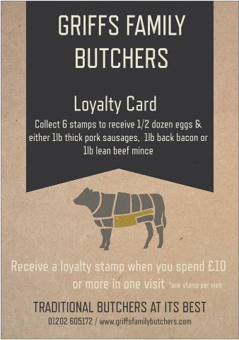 Loyalty card poster