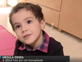 MENINO DE TRÊS ANOS LUTA POR UM TRANSPLANTE DE MEDULA ÓSSEA.