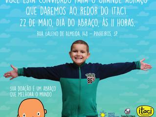 22 DE MAIO: DIA DO ABRAÇO. VENHA DAR UM ABRAÇO NO ITACI!