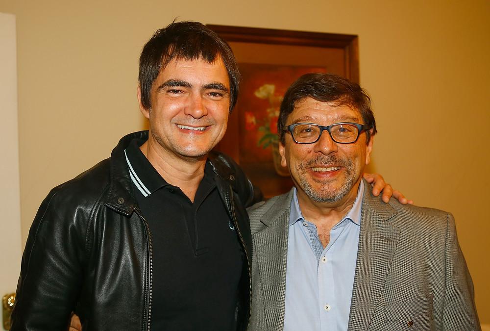 O cantor Samuel Rosa e o Dr. Vicente Odone