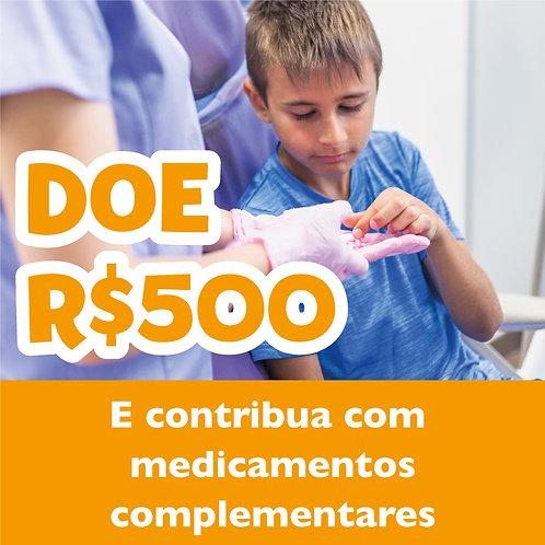 Doe R$500,00