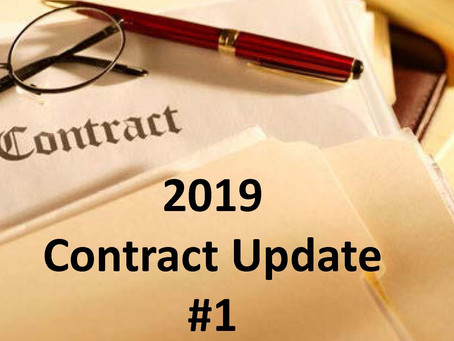 2019 Contract Update #1