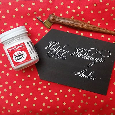 Holiday preppin' copperplate style thank