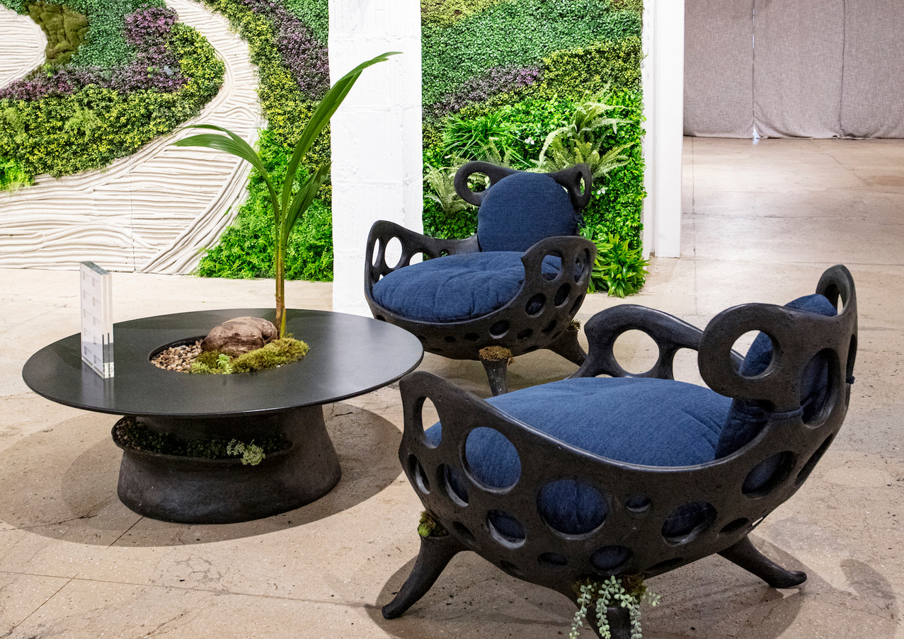 Drillium Chairs at the 1stdibs Showroom - Coal Cement