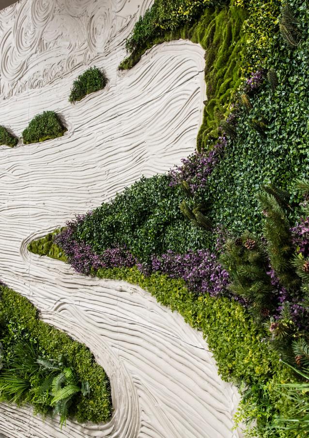 Wallscape Detail - Portland Cement with Silk Plants