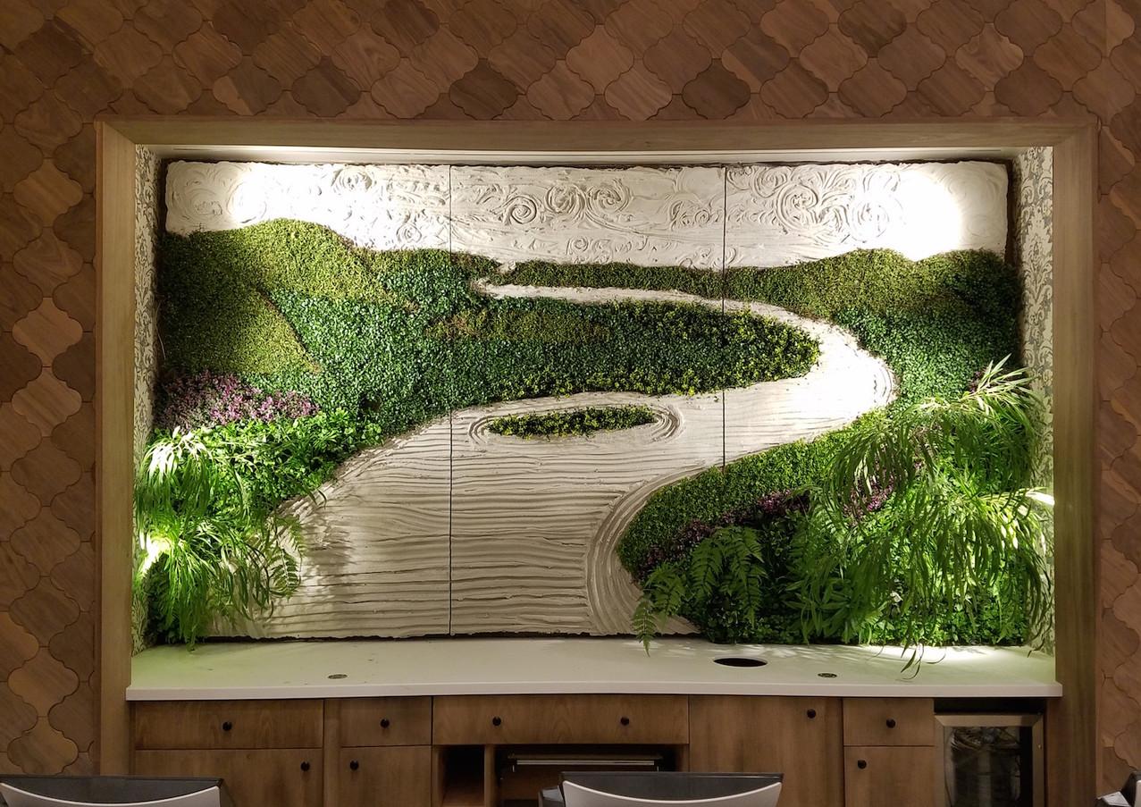 Wallscape - Portland Cement with Silk Plants