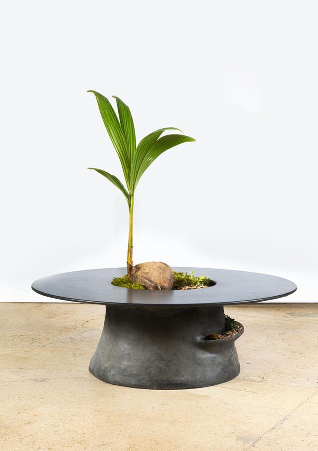 Caldera Coffee Table - Coal Cement