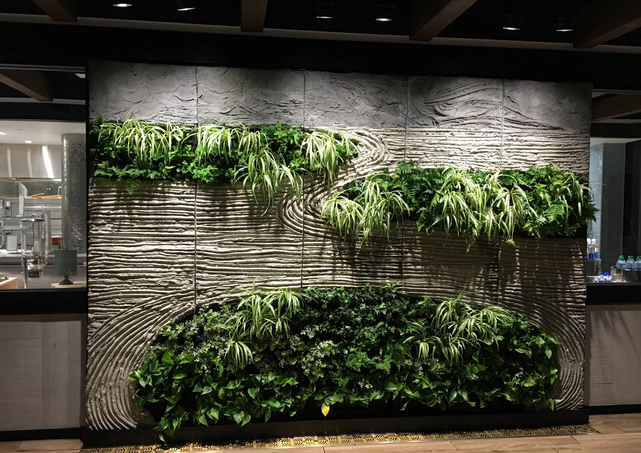 Wallscape in Commercial Space - Portland Cement