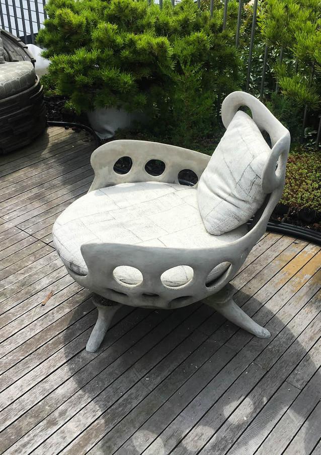 Drillium Chair - Smoke Cement