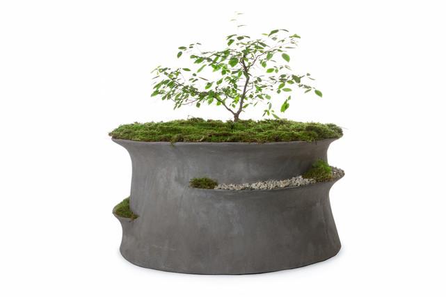 Jabbah Planter - Smoke Cement