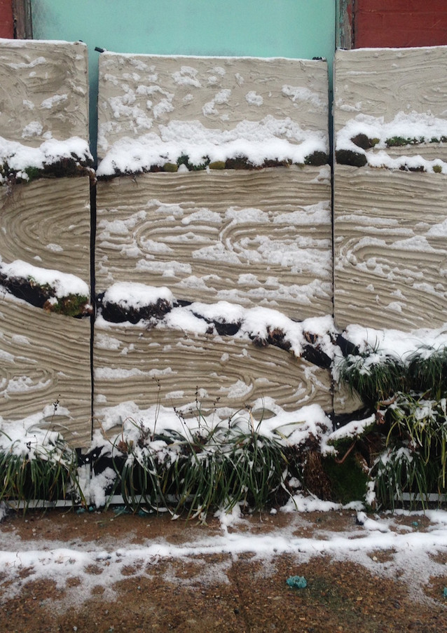 Wallscape in Snow - Portland Cement with Live Plants