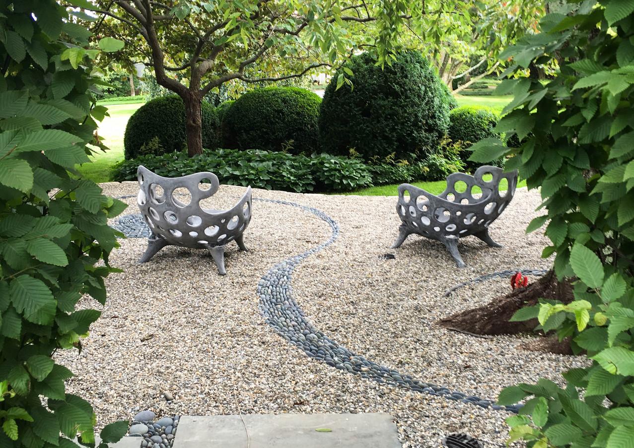 Drillium Chairs - Smoke Cement