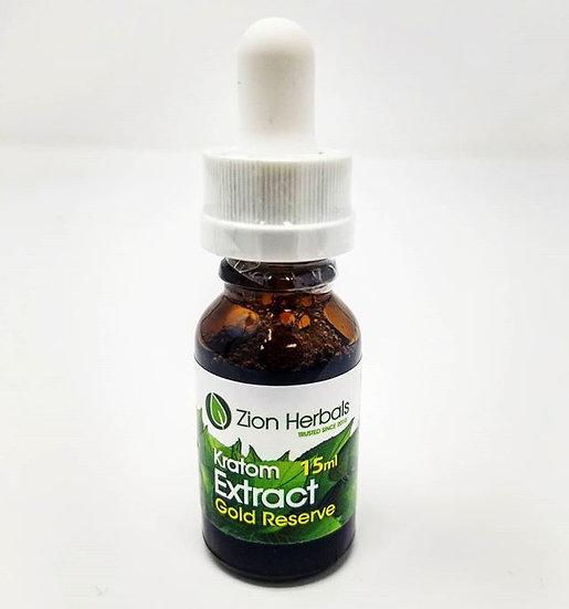 Zion Herbals - Gold Reserve - Kratom Extract - 15ml