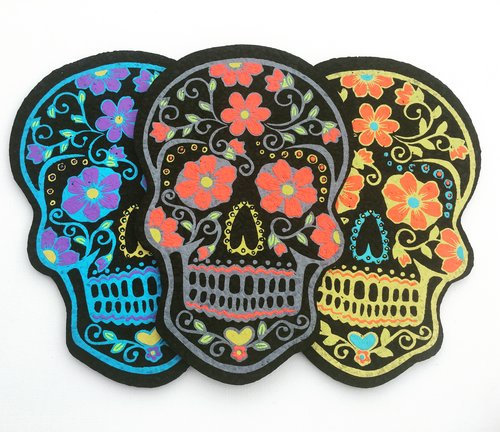 East Coasters - Die Cut Sugar Skull - UV Reactive