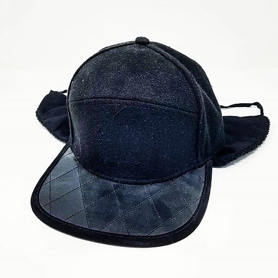Clokworq - Diamond Bill Snap Back w/ Ear Covers - Black