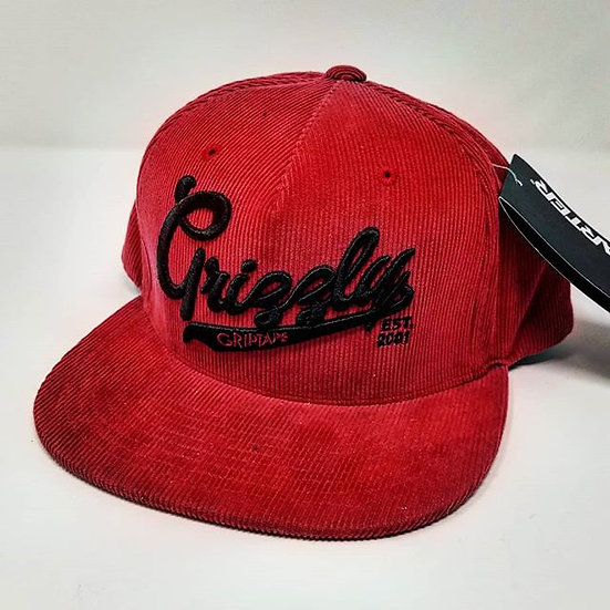 Grizzly - Corduroy Snapback - Red