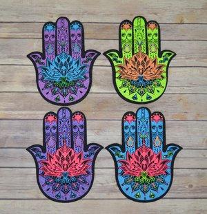 East Coasters - Die Cut Hamsa Hand - UV Reactive - Asst. Color