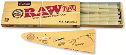 Raw Classic Cones - 98 Special - 20 Count