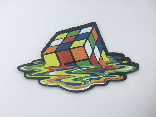 East Coasters - Melted Rubik's Cube - Dab Mat