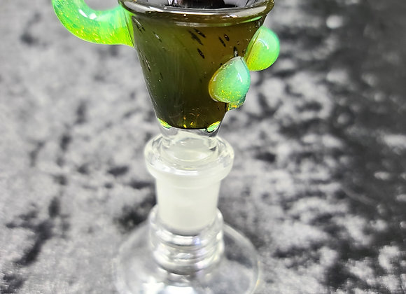 Thorium Glass - Oil Slick Fumetech Gong Bowl - 14M