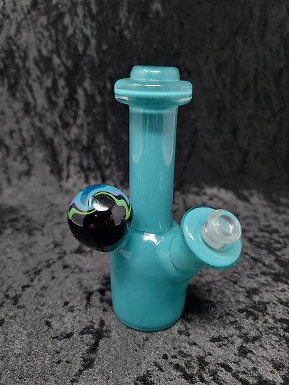 Hula Glass - Worked Mini Rig - Agua Azul