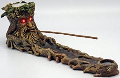 Incense Burner - Green Man - LED Eyes