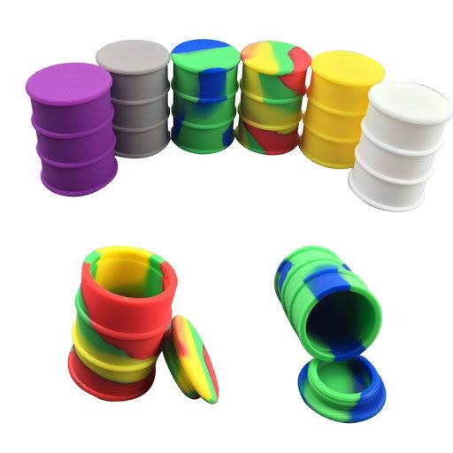 Silicone Jar - Oil Drum - Asst. Color