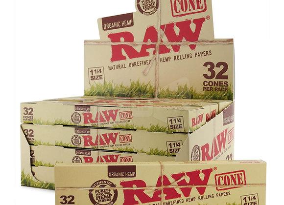 """Raw Organic Cones - 1.25"""" - 32 Pack"""