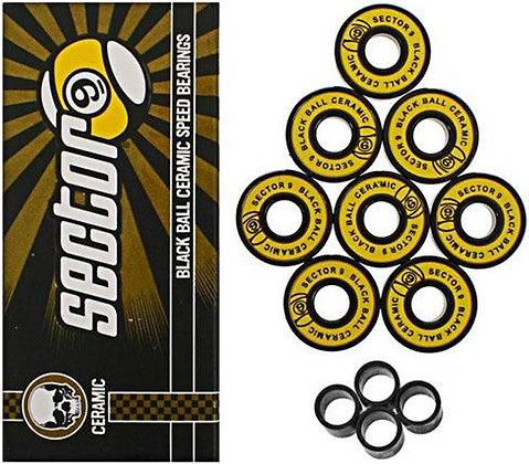 Sector 9 - Black Ball Ceramic Speed Bearings