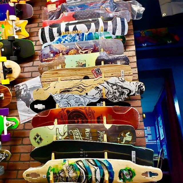 Have a great selection of longboards in