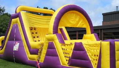 Giant Slide Obstacle Course