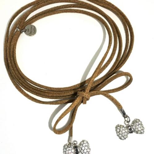Bows with Swarovski™ Crystals Choker