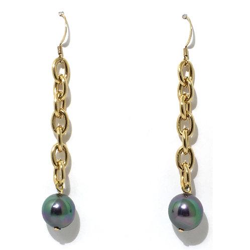 Blue Pearl Drop Earring