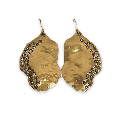 Swarovski™ Crystal Gold Organic Moon Beam Earrings
