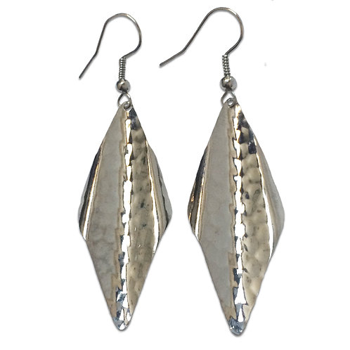 Hammered Wavy Dangle Earrings
