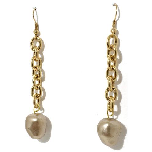 Champagne Pearl Drop Earring