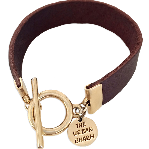 Burgundy Leather Color Band Bracelet