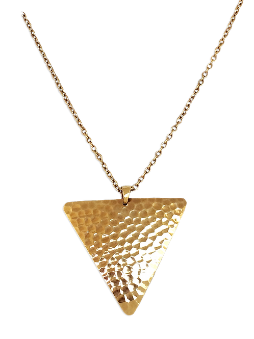 Hammered Triangle Dangle Necklace