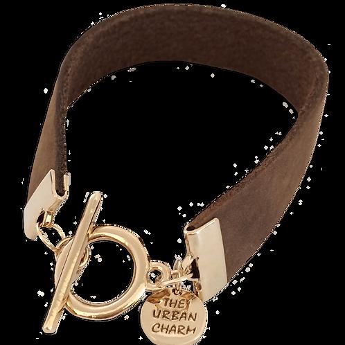 Distressed Tan Leather Color Band Bracelet